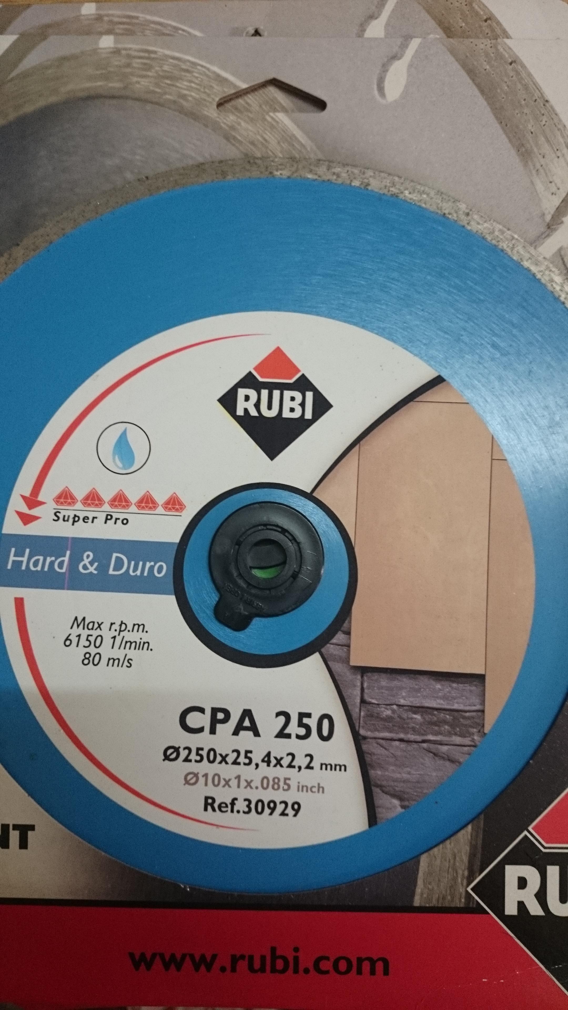 Lưỡi cắt đá granit Rubi CPA 250 Superpro