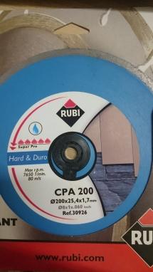 Lưỡi cắt đá granit Rubi CPA 200 Superpro